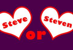 Steve or Steven – Mixed Bag